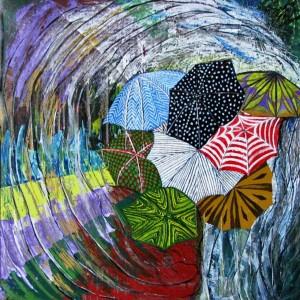 Regen, 60x60cm