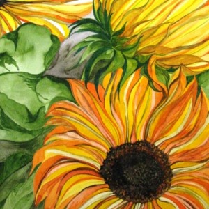 Sonnenblumen, 50x70cm