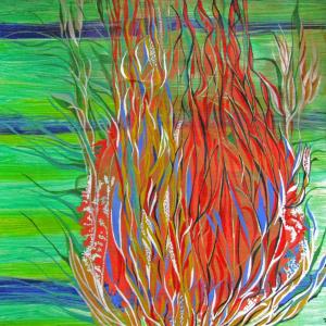 Feuer, 40x40 cm
