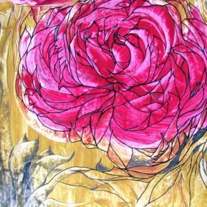 Rose im Gelb, 70x50 cm