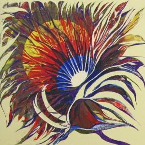 Sonnenfinsternis 1, 30x30 cm