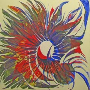 Sonnenfinsternis 3, 30x30 cm