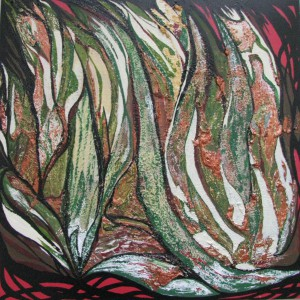 Herbst, Acryl, Mischtechnik, 50x50