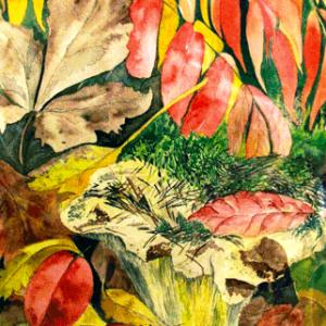 Herbstwald, 26x38 cm