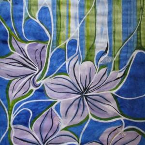 Zarte Blüten, 30x40 cm