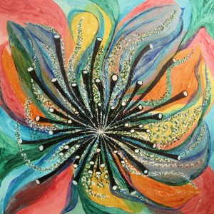 Blume - abstrakt, 40x40 cm