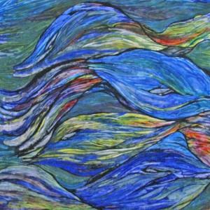 Fische, 60x60 cm