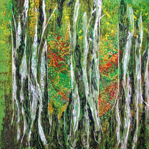 Sommer im Wald, 60x60 cm
