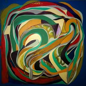 Farbverläufe, Acryl, 60x60 cm