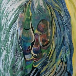 Zweisam, Acryl auf Leinwand, 40x60 cm