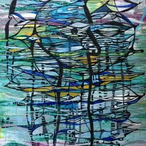 schau hin, Acryl auf Leinwand, 40x60 cm