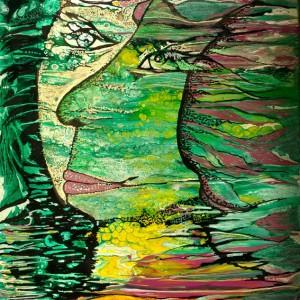Frühling 2020, Acryl auf Keilrahmen, 40x60 cm