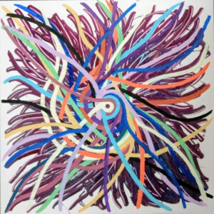 Spiralen, 2021, acryl